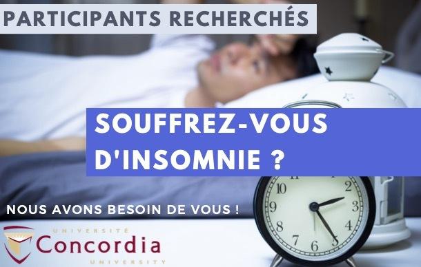 Participants recherchés pour une étude de traitement de l'insomnie